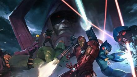 Iron man artwork marvel vs capcom 3 wallpaper