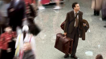 Movies people terminal tom hanks scenes wallpaper