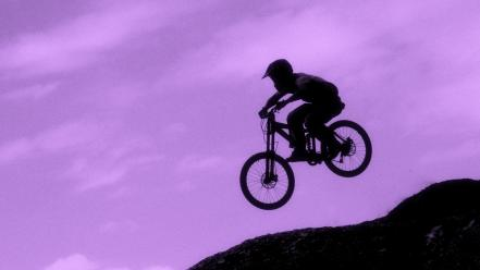 Purple mountain bikes wallpaper