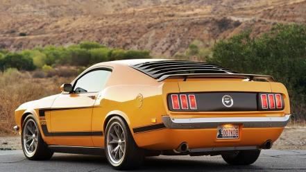Vehicles mustang car fastback rear angle view Wallpaper