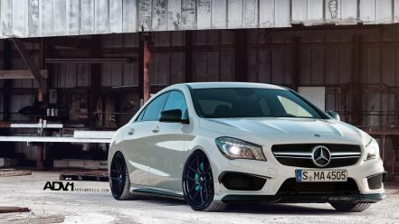 White amg tuning wheels mercedes-benz Wallpaper