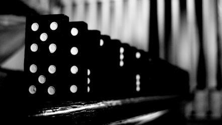 Abstract grayscale dominos game shades wallpaper