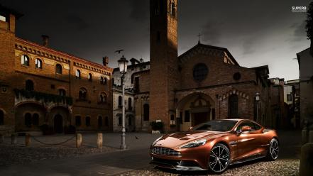 Aston martin am 310 vanquish front angle view wallpaper