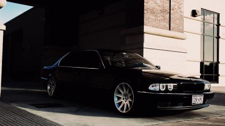 Bmw black wall cars windows street wallpaper