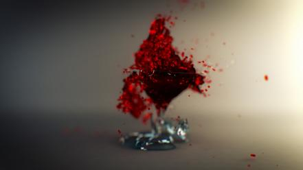 Broken glass liquid 3d splashes shatter wallpaper