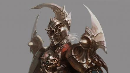 Fantasy art armor artwork warriors simple background wallpaper