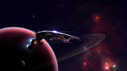 Mass effect normandy planetside astronomy outer space wallpaper