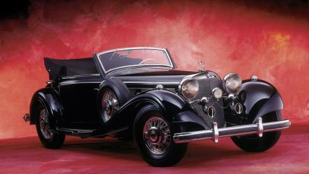 Mercedes-benz 1936 front angle view cabriolet 540k wallpaper