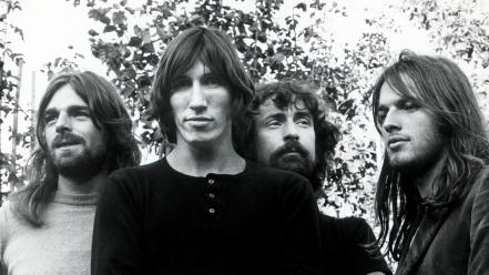 Music pink floyd men grayscale monochrome bands musicians wallpaper