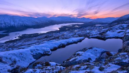 Norway landscapes mountains nature snow wallpaper