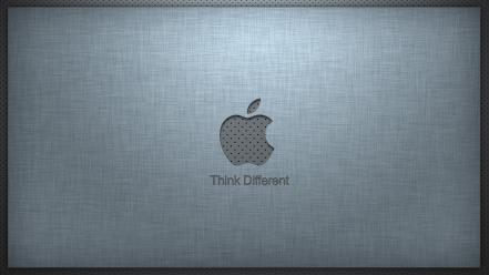 Apple inc. metal textures think different simple linen wallpaper