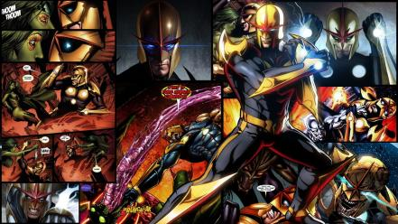 Artwork marvel comics nova (richard rider) Wallpaper