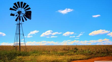 Broken windmills wallpaper