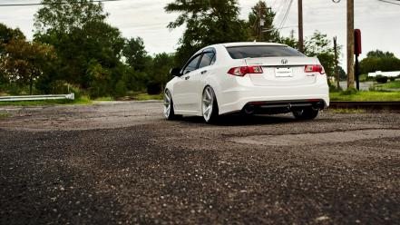 Honda white vossen wallpaper