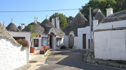 Italia italy alberobello puglia cities landscapes Wallpaper