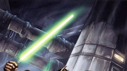 Jedi science fiction artwork coruscant mace windu wallpaper