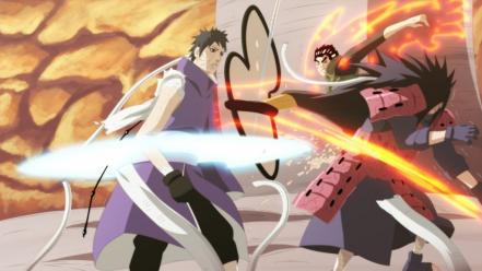 Naruto: shippuden battles rock lee uchiha obito madara wallpaper