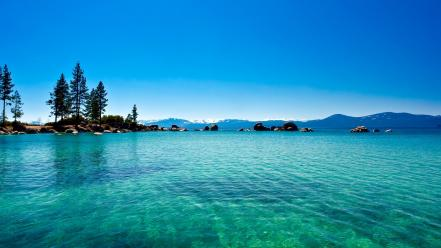 Nature usa california lakes lake tahoe skies wallpaper