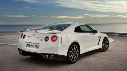 Nissan white cars gtr wallpaper