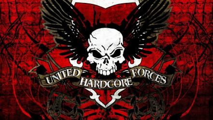 Skulls united hardcore forces Wallpaper