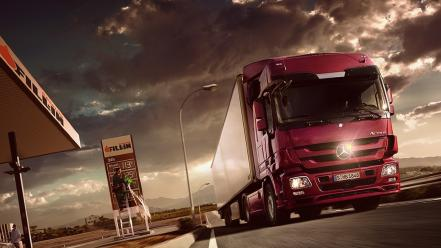Trucks vehicles transports mercedes benz actros Wallpaper