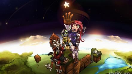 Video games stars planets starbound wallpaper