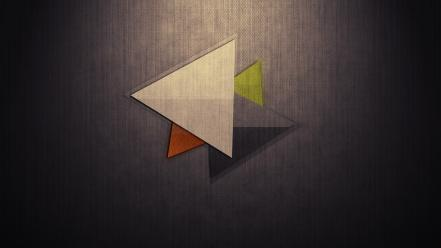 Abstract dark wood triangles wallpaper