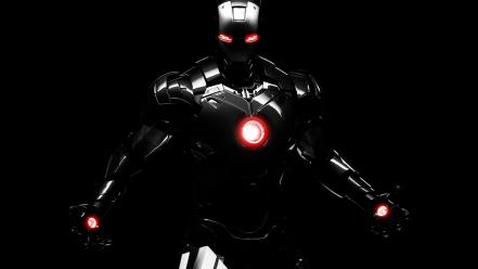 Black iron man pictures Wallpaper