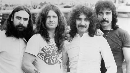 Black sabbath ozzy osbourne grayscale music bands Wallpaper