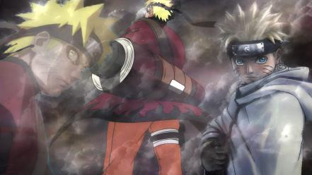 Clouds naruto: shippuden sage mode uzumaki naruto trio wallpaper