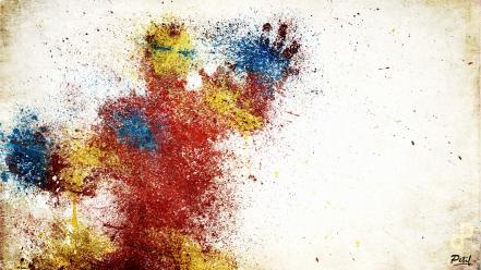 Iron man suit artwork marvel comics paint splatter wallpaper