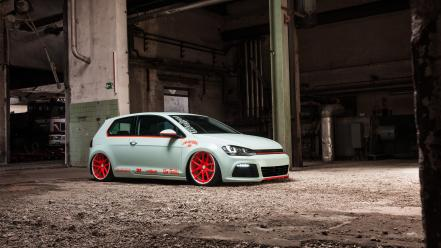 Light tron volkswagen golf scene low vii wallpaper