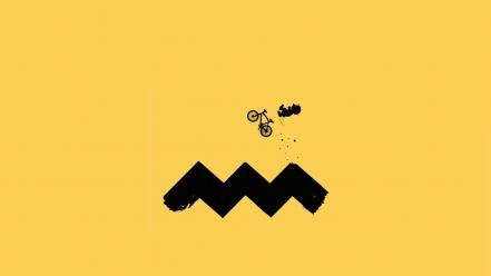 Minimalistic funny charlie brown cycling wallpaper