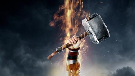 Mjolnir thor: the dark world fist hammers wallpaper