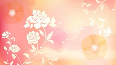 Pink abstract flower wallpaper