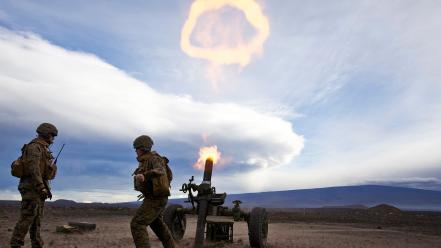 Soldiers military artillery wallpaper