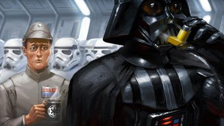 Star wars darth vader funny artwork asthma wallpaper