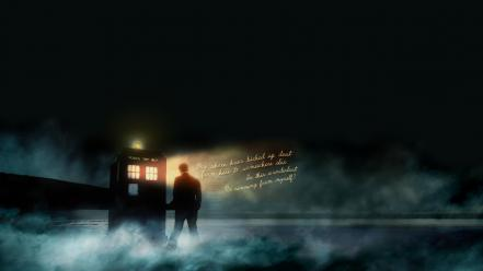 Text tardis mist doctor who tenth wallpaper