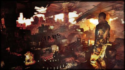War computers mars logs apocalyptic game wallpaper