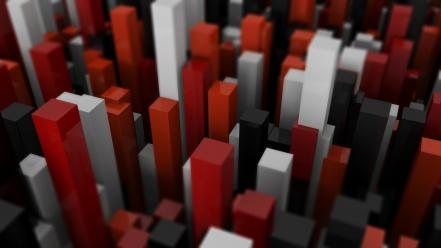 Abstract 3d render bars wallpaper