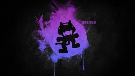 Black music violet purple logos simple monstercat electronic Wallpaper