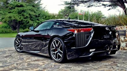 Cars roads lexus vehicles lf-a automobile wallpaper