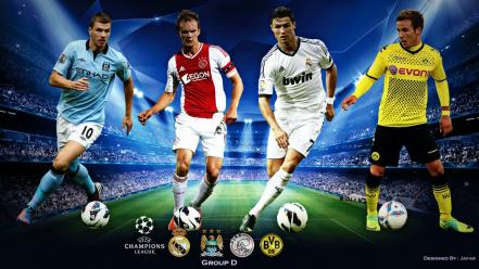 Champions league uefa football players soccer sports Wallpaper