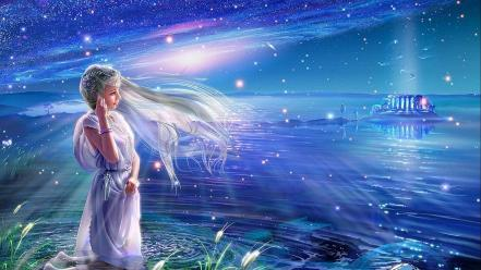 Fantasy art goddess andromeda kagaya yutaka mythology greek wallpaper