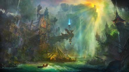 Fantasy art sea wallpaper