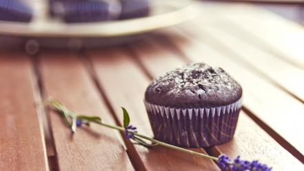 Flowers muffins food art wallpaper