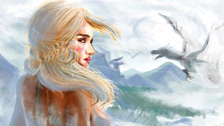 Game of thrones tv series daenerys targaryen wallpaper