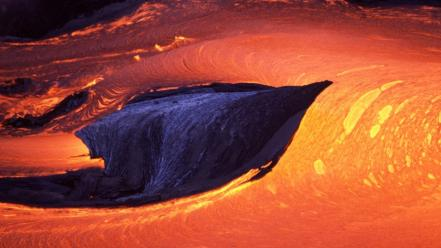 Landscapes volcanoes lava magma Wallpaper