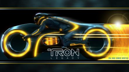 Legacy advertisement motorbikes neon lights black clothes wallpaper