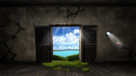 Nature fantasy art door wallpaper
